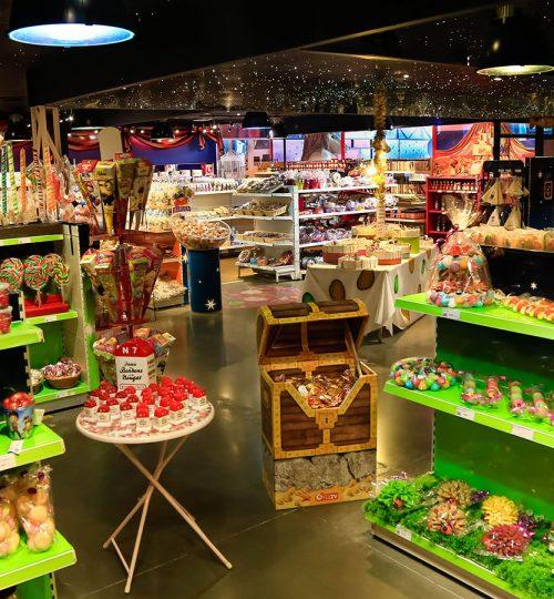 Boutique de bonbons et nougat